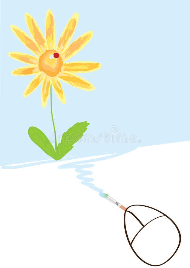 Download Mouse Drawing Flower_eps stock vector. Illustration of cable - 18297969