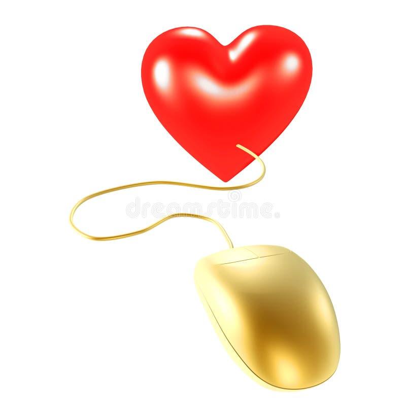 Download Mouse e cuore dorati illustrazione di stock. Illustrazione di illustrazione - 3148819