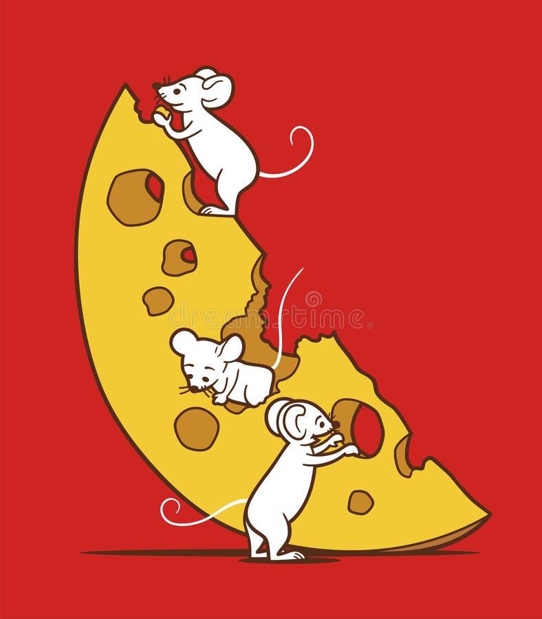 Mouse e formaggio illustrazione vettoriale