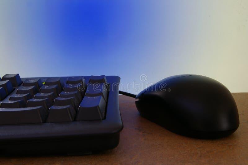 Mouse e tastiera immagini stock