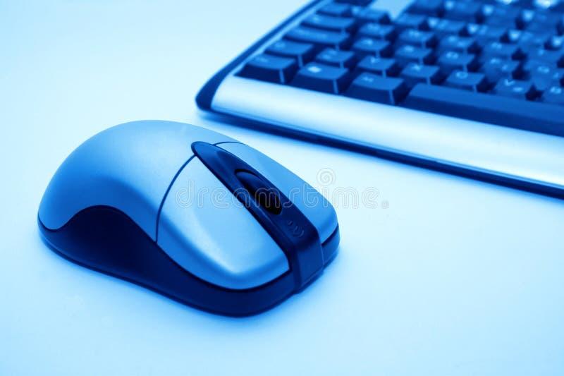 Mouse e tastiera senza fili immagine stock