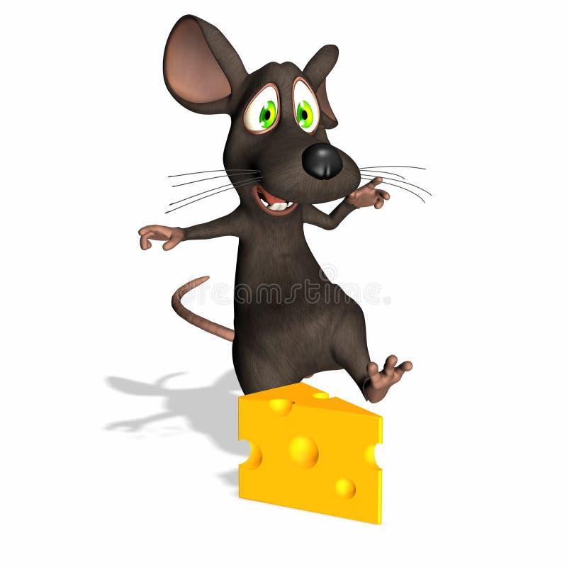 Mouse - formaggio svizzero royalty illustrazione gratis