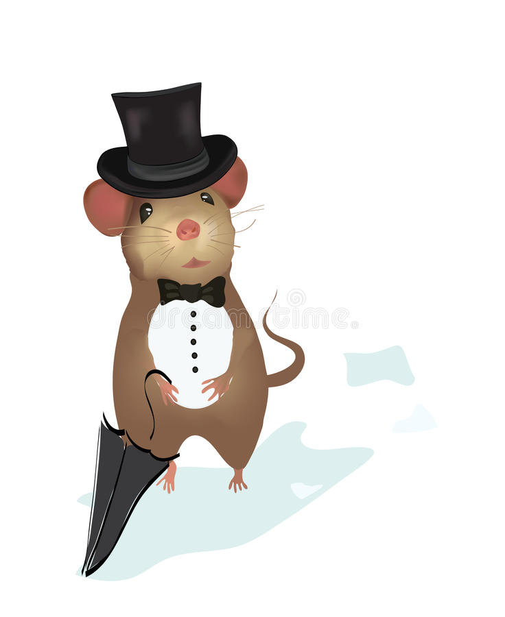 Mouse Gentleman. Illustration of a mouse vector illustration