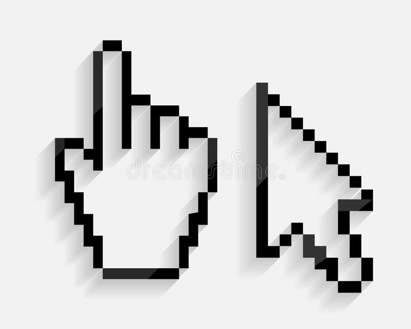 Mouse Hand and Arrow Cursor Set Vector stock illustration