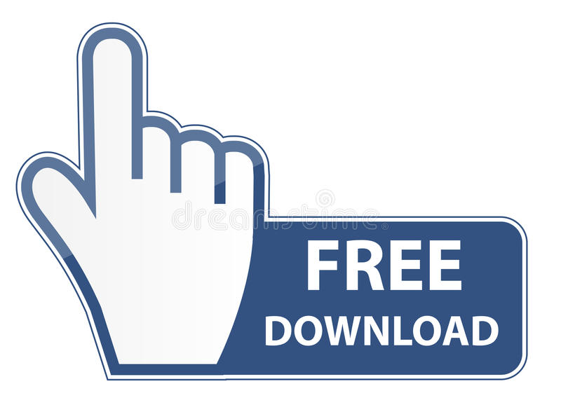 Mouse hand cursor on free download button vector vector illustration
