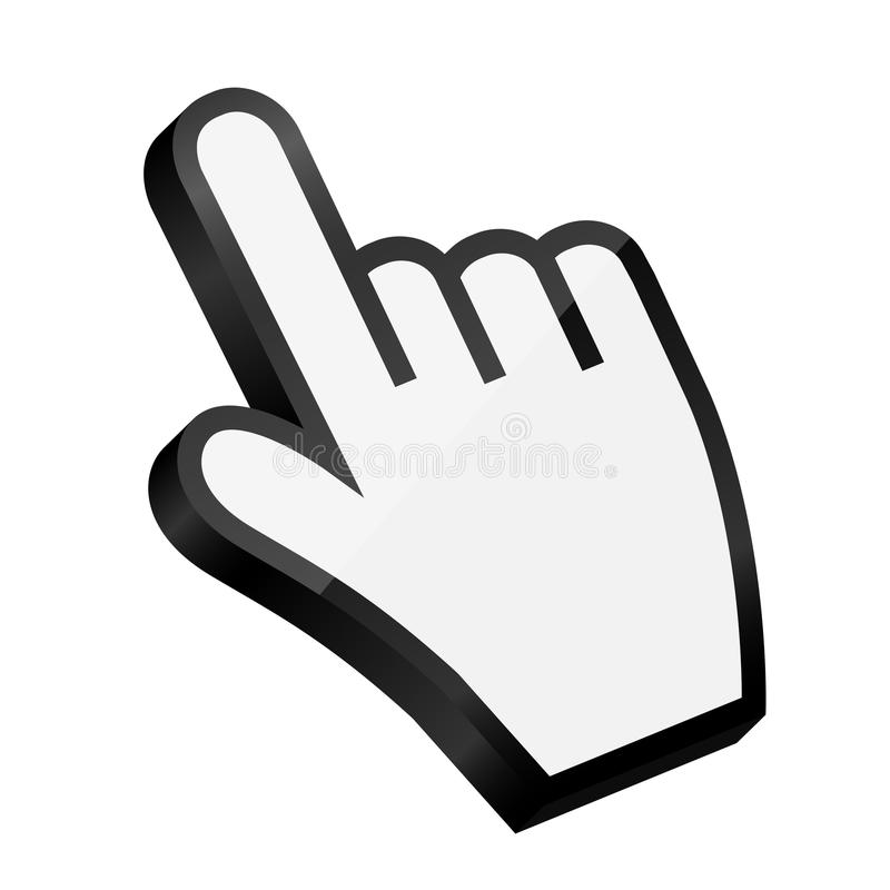Free Mouse Hand Cursor Vector Illustration Royalty Free Stock Image - 34983256