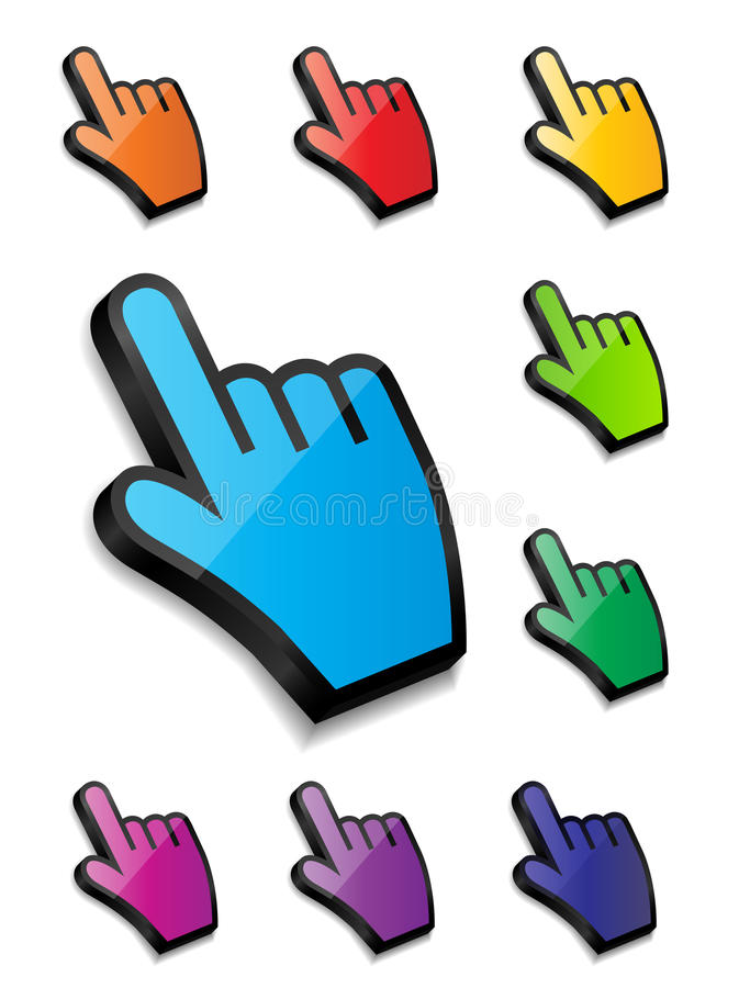 Free Mouse Hand Cursor Vector Illustration Stock Image - 34993641