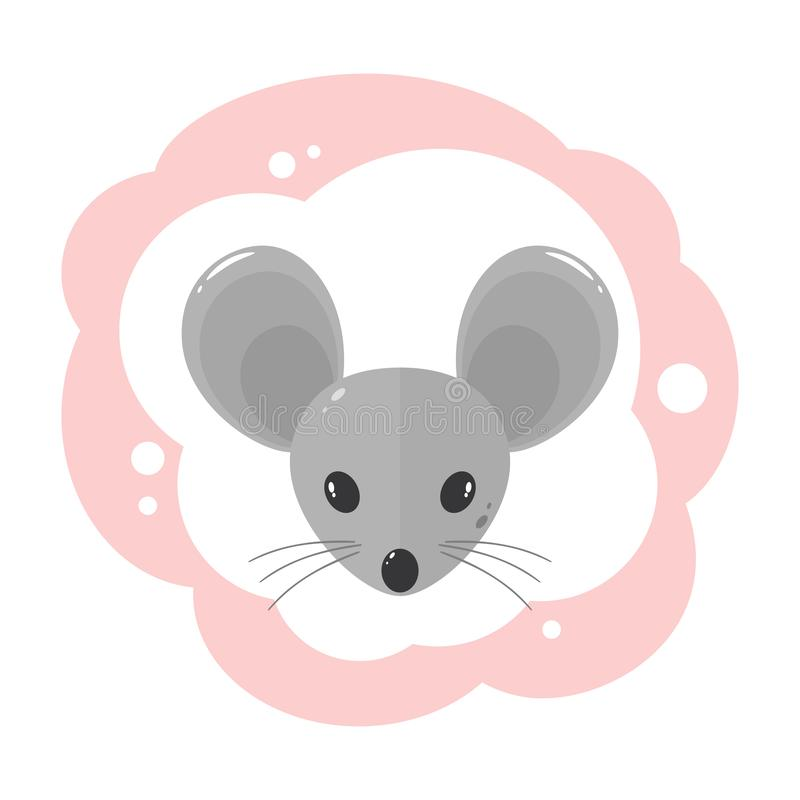 Mouse Head royalty free illustration