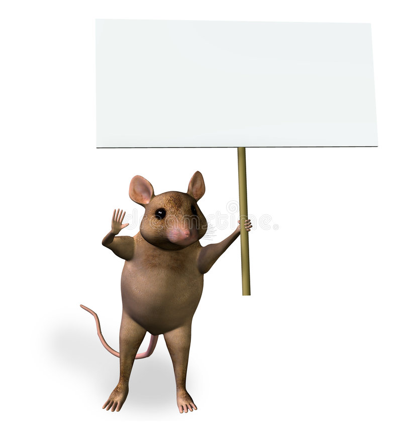 Download Mouse Holding a Blank Sign stock illustration. Illustration of mouse - 109338