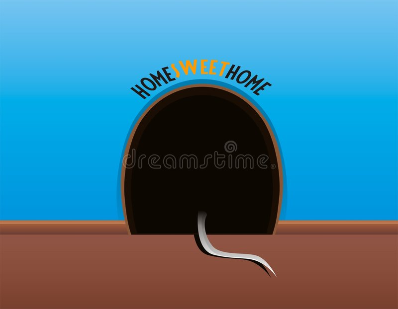 Download Mouse hole stock vector. Image of wall, floor, mice, home - 1138642