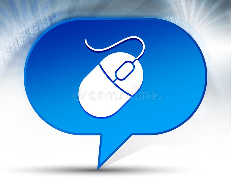 Mouse icon blue bubble background. Mouse icon isolated on blue bubble background vector illustration
