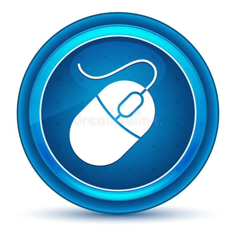 Mouse icon eyeball blue round button. Mouse icon isolated on eyeball blue round button stock illustration