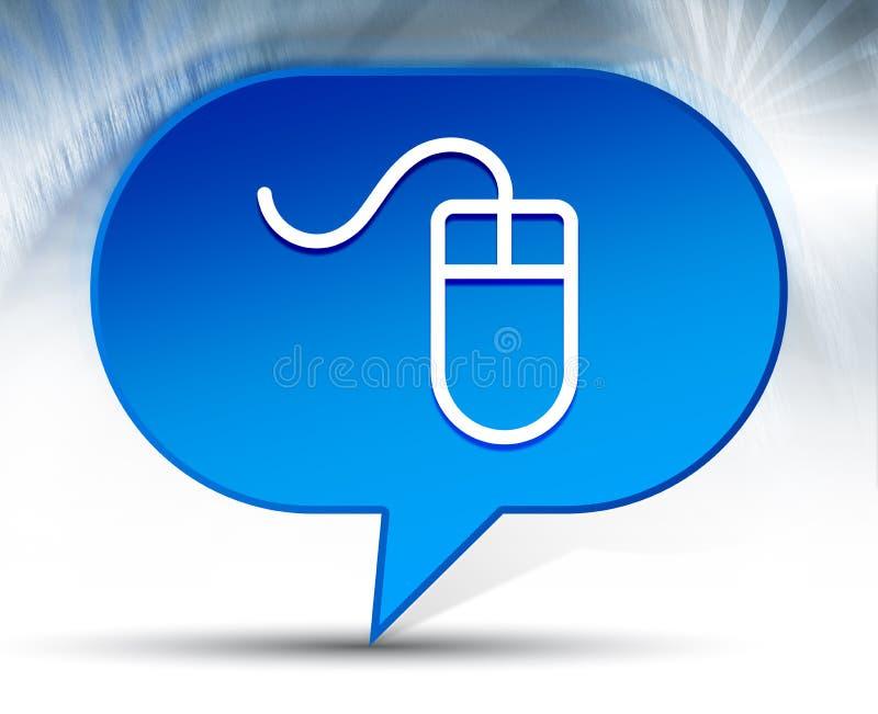 Mouse icon blue bubble background. Mouse icon isolated on blue bubble background royalty free illustration
