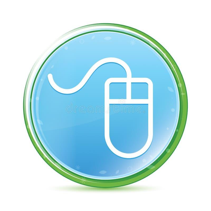 Mouse icon natural aqua cyan blue round button. Mouse icon isolated on natural aqua cyan blue round button vector illustration