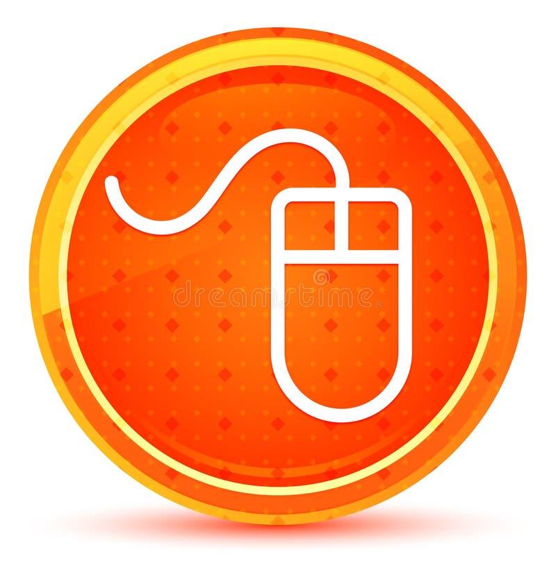Mouse icon natural orange round button. Mouse icon isolated on natural orange round button stock illustration