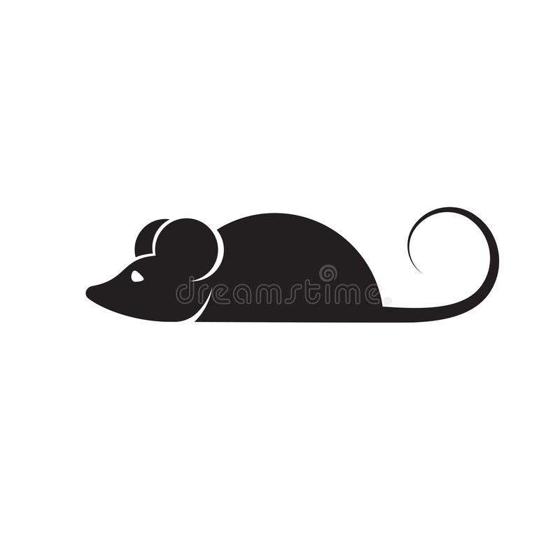 Mouse icon in trendy flat style isolated on background. Mouse icon page symbol for your web site design Mouse icon logo, app, UI. royalty free illustration