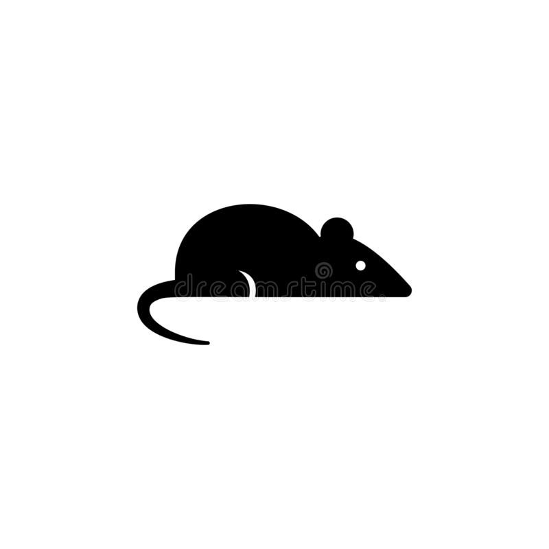 Mouse icon in trendy flat style isolated on background. Mouse icon symbol for your web site design Mouse icon royalty free illustration