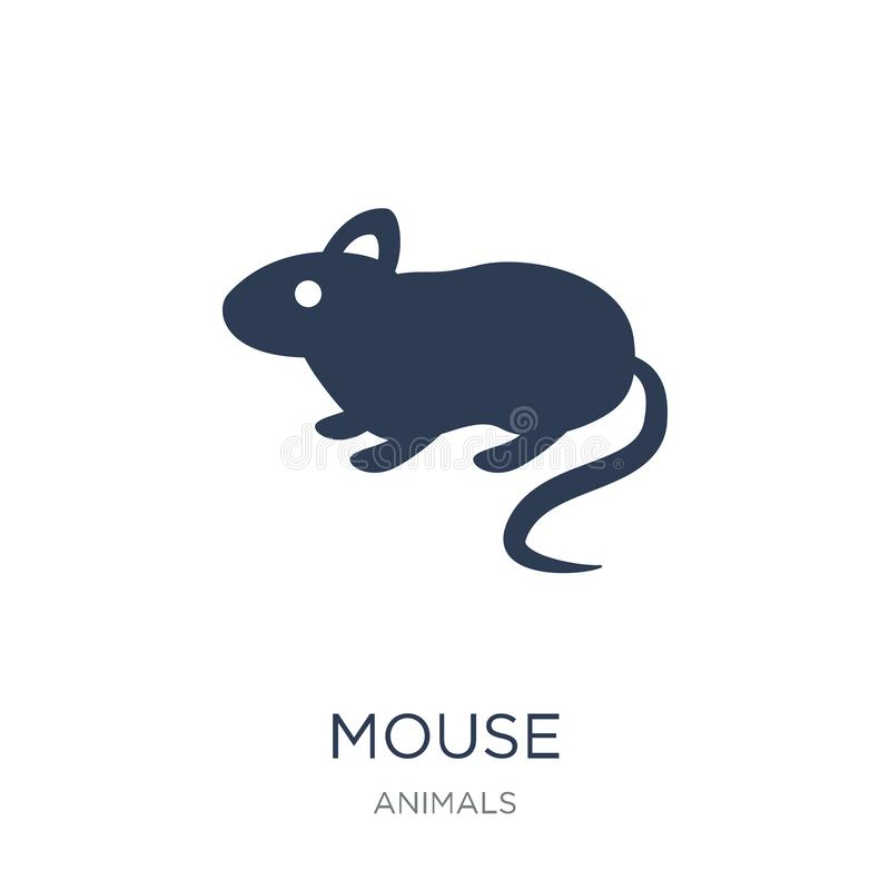 Mouse icon. Trendy flat vector Mouse icon on white background fr. Om animals collection, vector illustration can be use for web and mobile, eps10 vector illustration