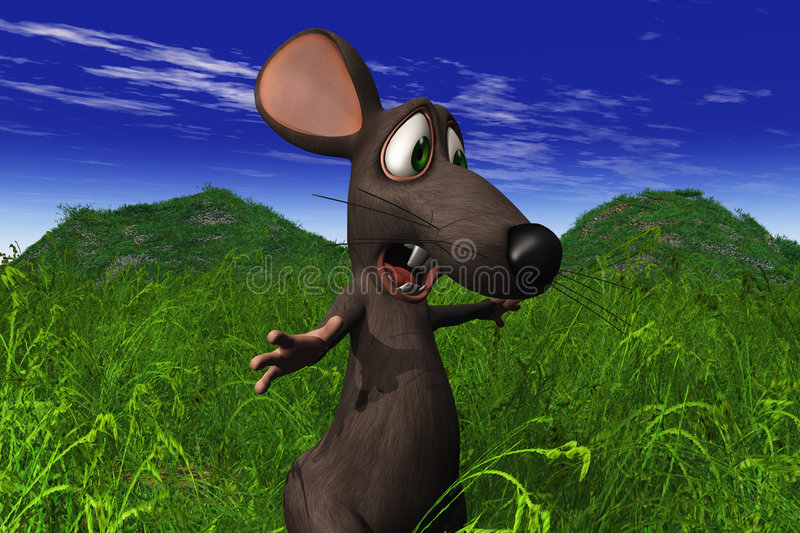 Download Mouse Looking Shocked In A Field Stock Illustration - Illustration: 6829978