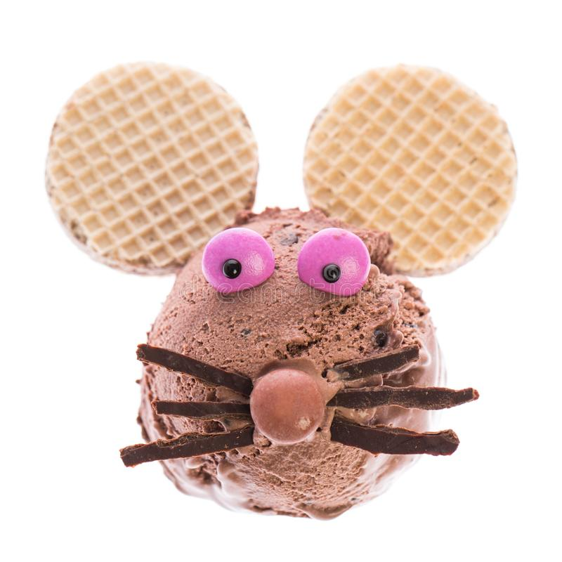A mouse made out of ice cream stock image
