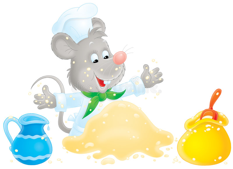 Download Mouse making dough stock illustration. Image of illustration - 8034959