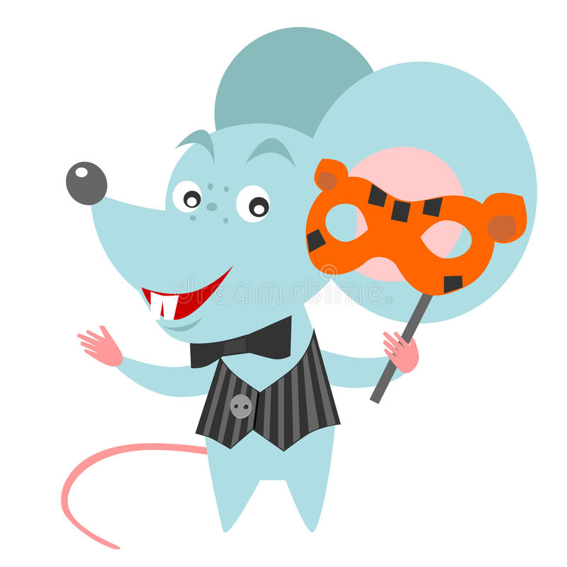 Download Mouse with a mask stock vector. Image of isolated, mouse - 31548926