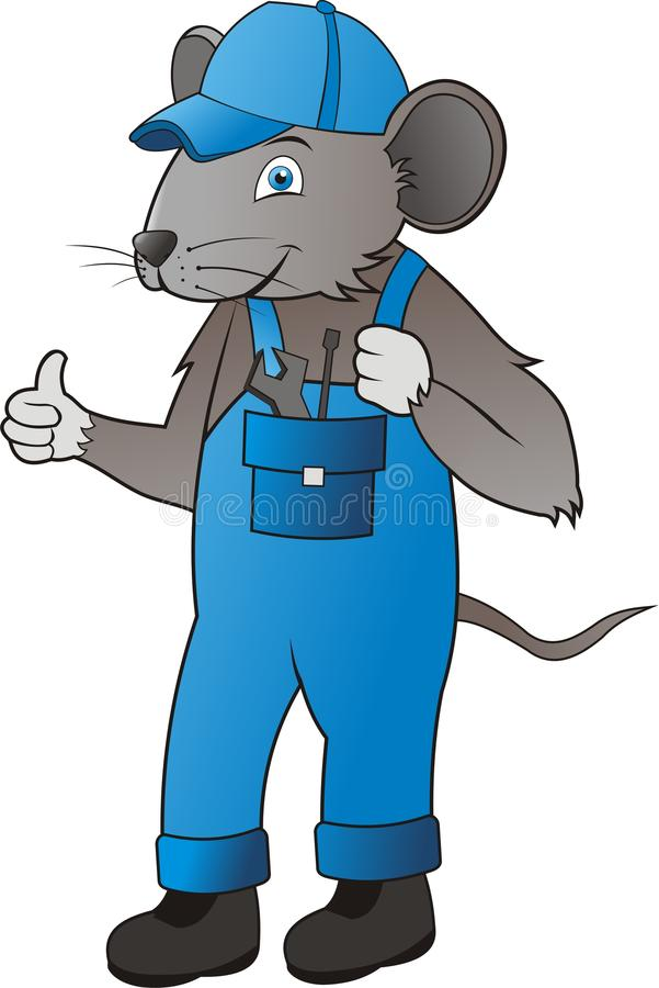 MOUSE MECHANIC royalty free stock photography