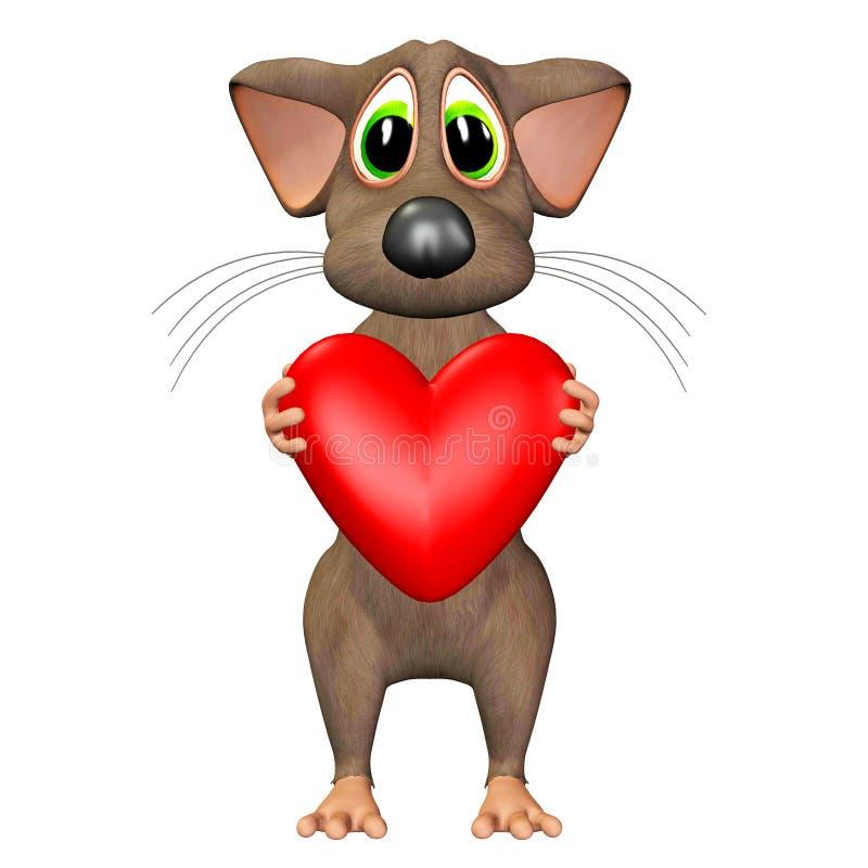 Mouse nell'amore royalty illustrazione gratis