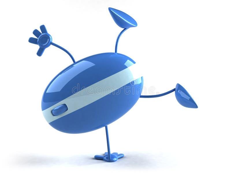 Mouse ottico illustrazione vettoriale
