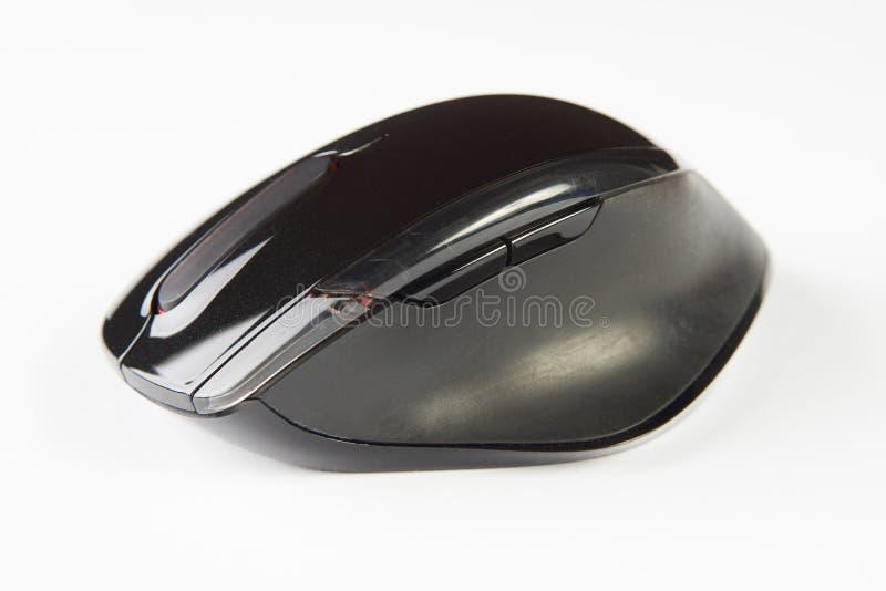Mouse ottico nero del calcolatore fotografie stock