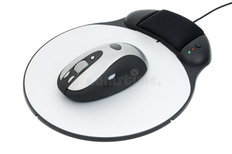Mouse and pad royalty free stock images