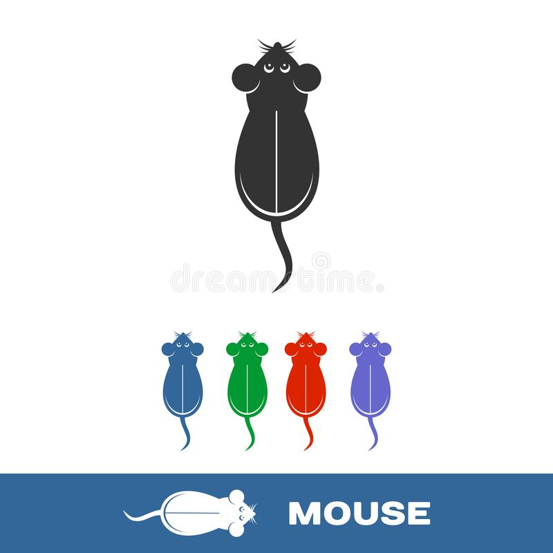 Mouse pad computer icon isolated royalty free stock photography