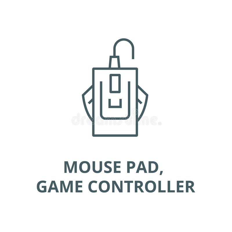 Mouse pad, game controller vector line icon, linear concept, outline sign, symbol vector illustration