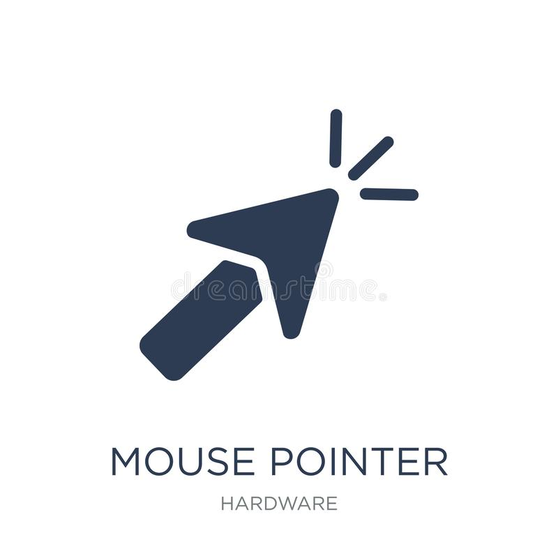 Mouse pointer icon. Trendy flat vector Mouse pointer icon on white background from hardware collection royalty free illustration