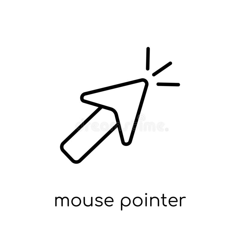Mouse pointer icon. Trendy modern flat linear vector Mouse point vector illustration