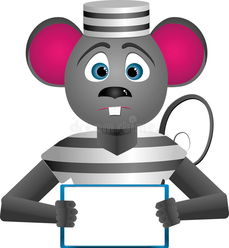 Mouse-prisoner Stock Images