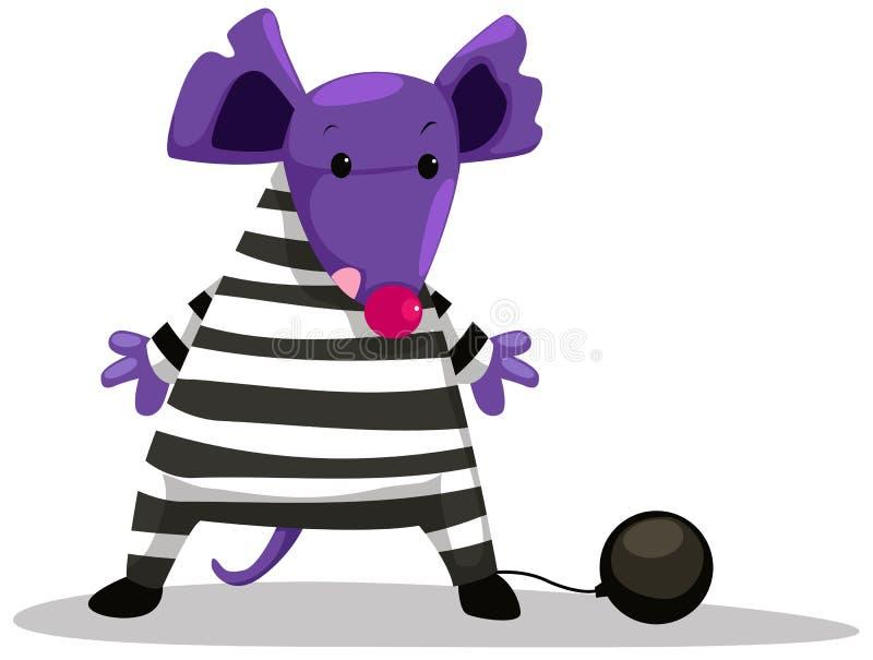 Mouse prisoner royalty free illustration