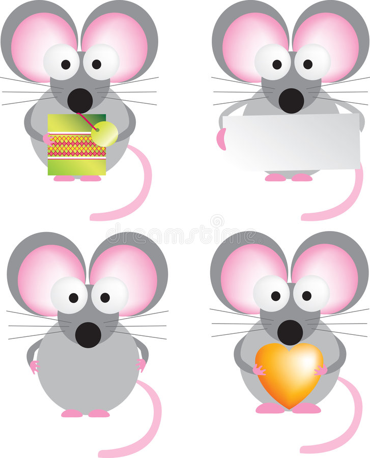 Download Mouse set stock vector. Image of tail, valentine, card - 8612961
