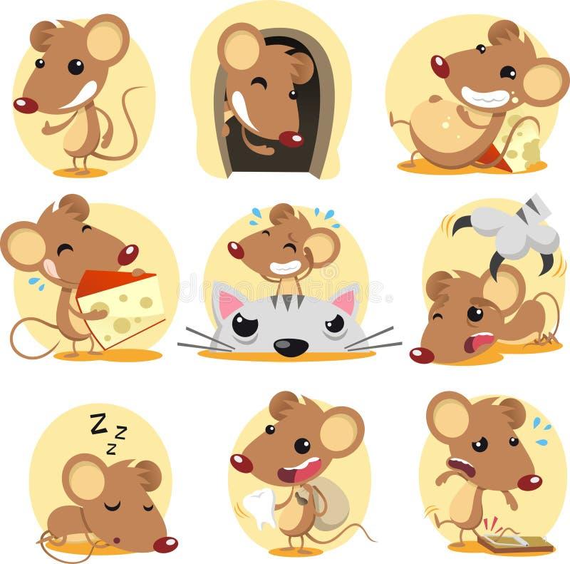 Mouse set vector illustration
