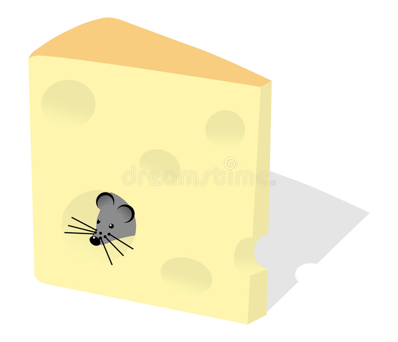 Mouse and slice of cheese