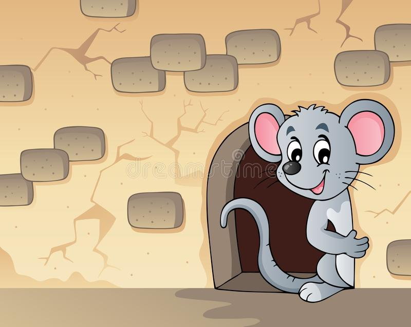 Mouse theme image 3 vector illustration