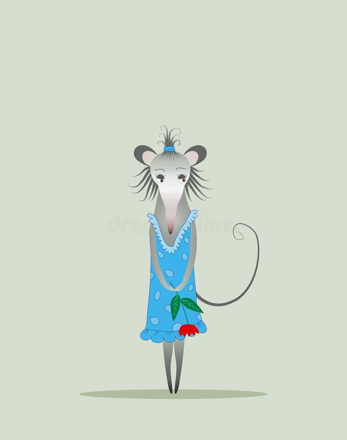 Mouse timido royalty illustrazione gratis