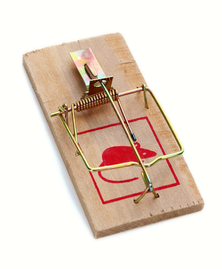 Mouse trap stock image