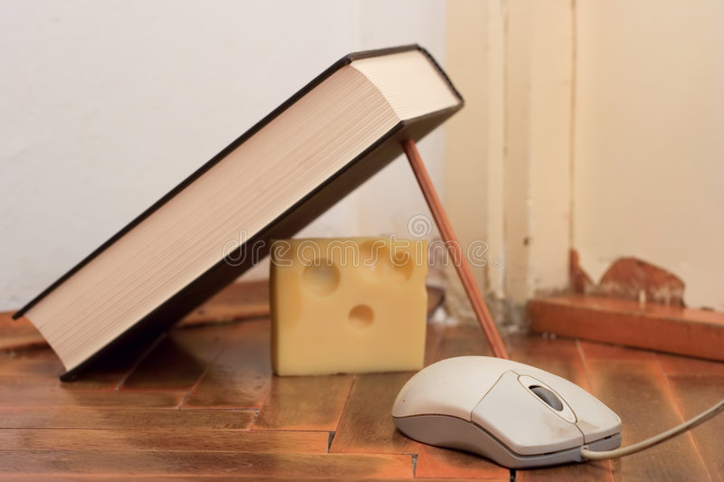 Mouse trap. Improvised mouse trap stock images
