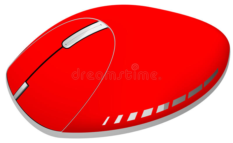Mouse. Illustration isolated in hot colors eps 10 vector illustration