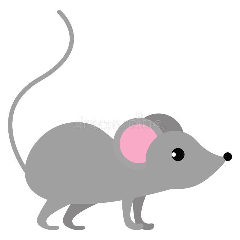 Mouse wild animal vector illustration royalty free illustration