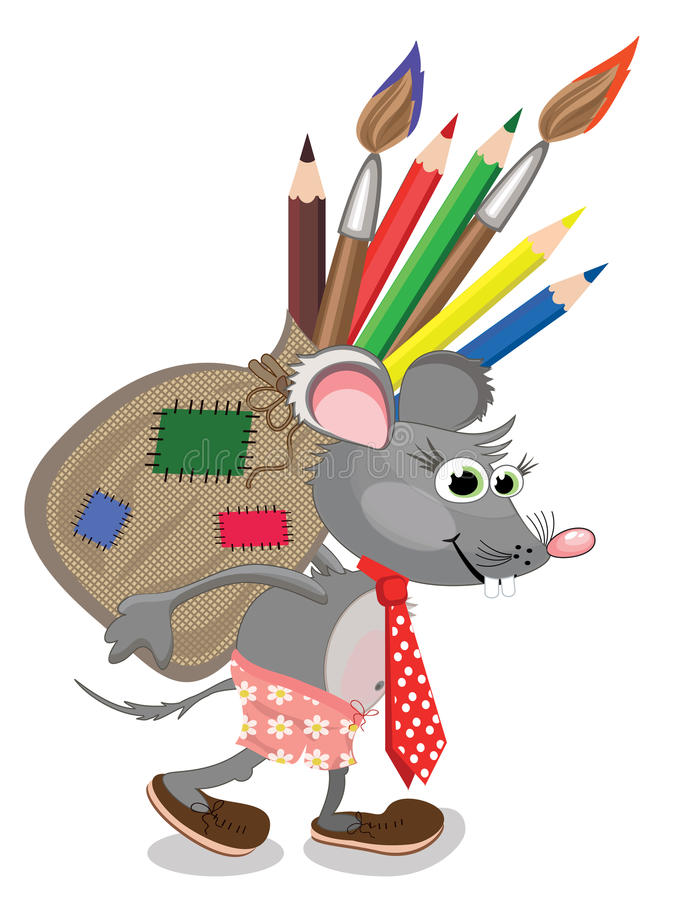 Free Mouse With Bag Stock Image - 19157511