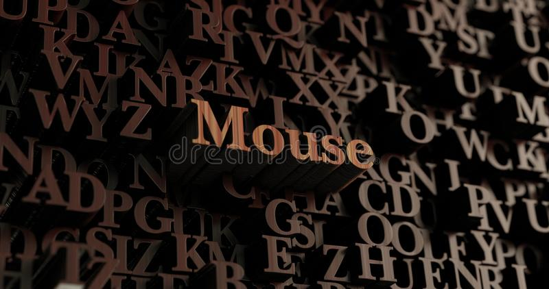 Mouse - Wooden 3D rendered letters/message royalty free illustration