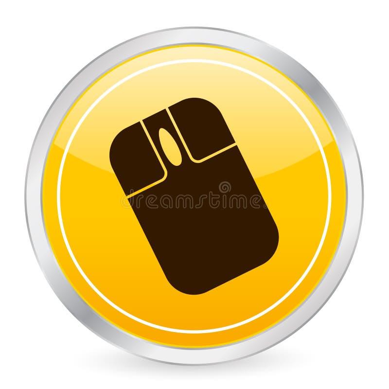 Free Mouse Yellow Circle Icon Stock Photos - 5320253
