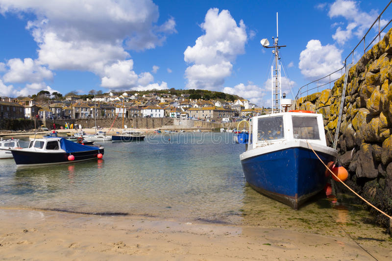 Download Mousehole stock image. Image of sunny, cornish, harbour - 25174761